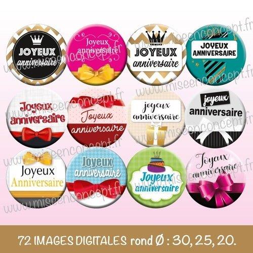 72 Images Digitales Joyeux Anniversaire Rond Images