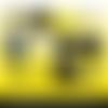 72 images digitales - gilets jaunes - rond - images cabochons - bijoux