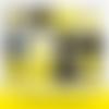 12 images digitales pour badges - 56 + 10 mm - gilets jaunes