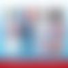 72 images digitales - allez les bleus - rond - images cabochons - coupe du monde 2019 - football - foot - bijoux - badge - magnet