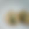 Créoles vertes en malachite et sequin vert