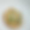 Créoles dorées en aventurine et pierre de lune