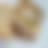 Boucles d'oreilles dorées et perles en tourmaline