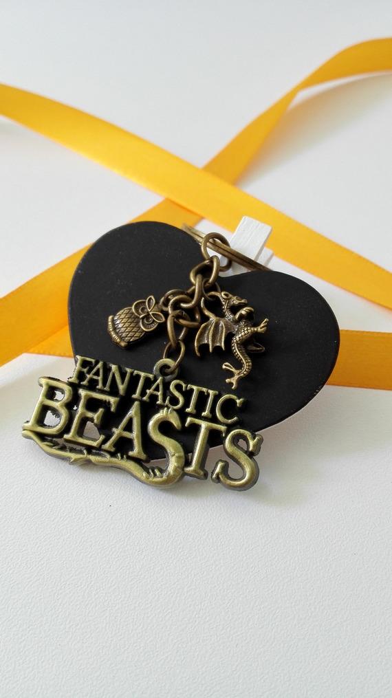 Porte clés Les Animaux Fantastiques Norbert Dragronneau The Fantastic Beasts bronze féérique