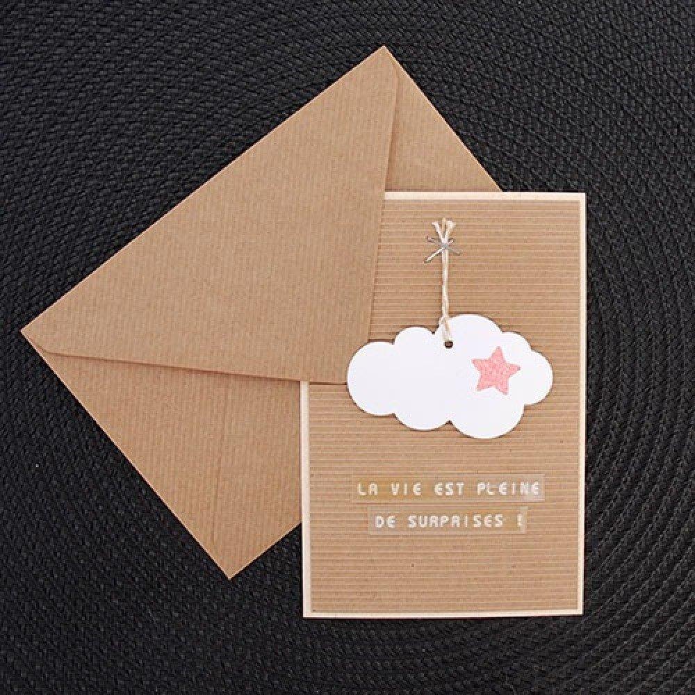 Carte nuage rose