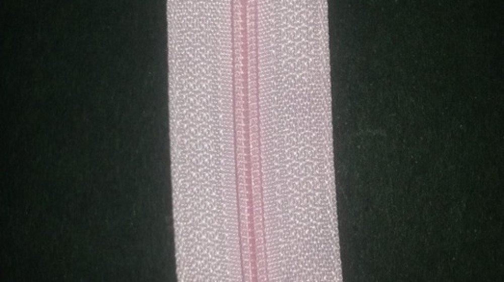 fermeture à glissière  Nylon rose 30 cm non séparable
