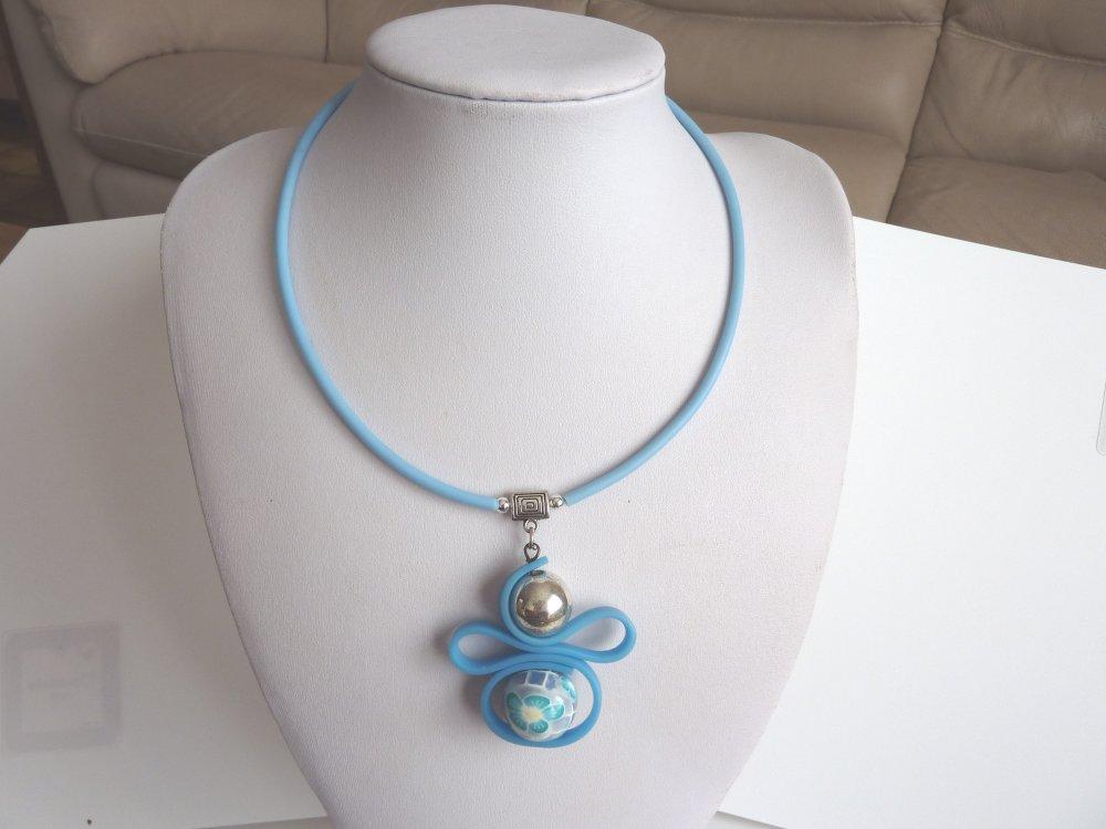 collier pendentif turquoise