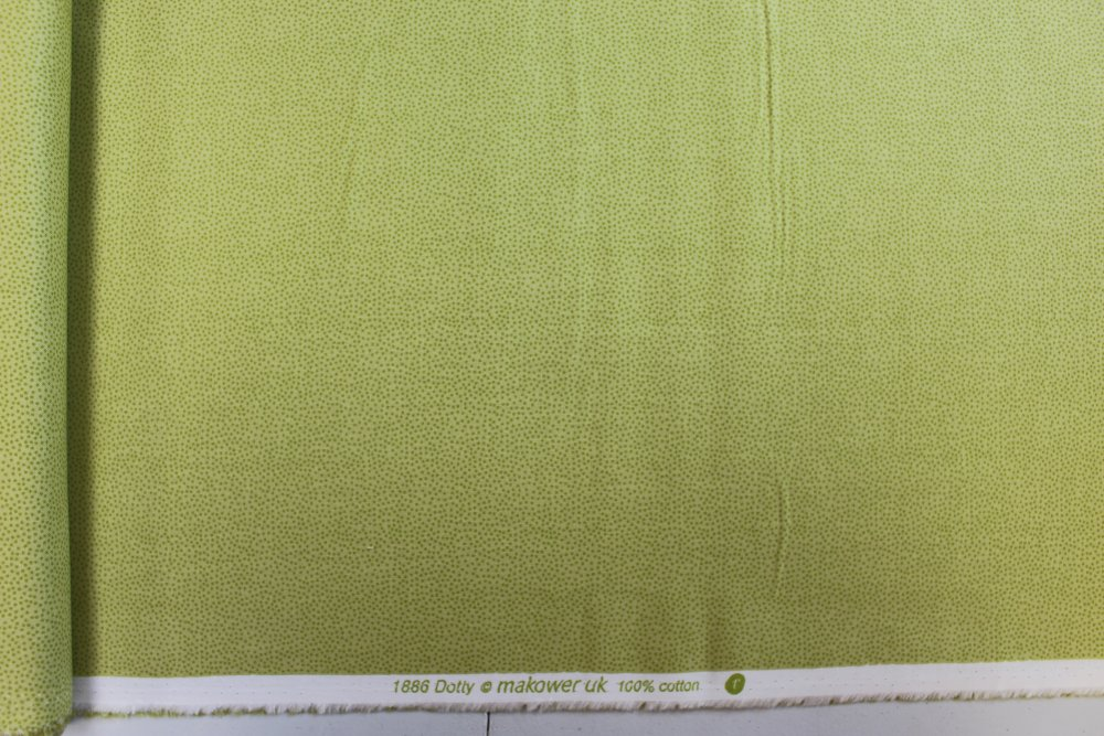 Tissu Coton qualité patchwork - Collection makover UK - Dotty vert - 25 cm x 110 cm