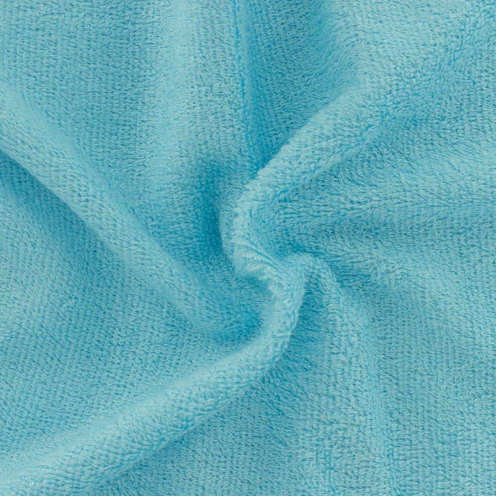 Tissu éponge de bambou turquoise perroquet - 25cm