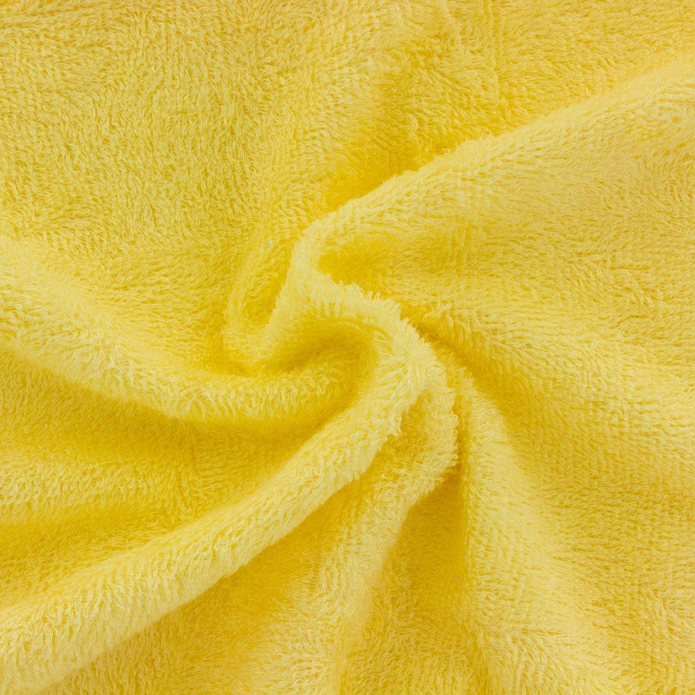 Tissu éponge de bambou jaune banane - 25cm