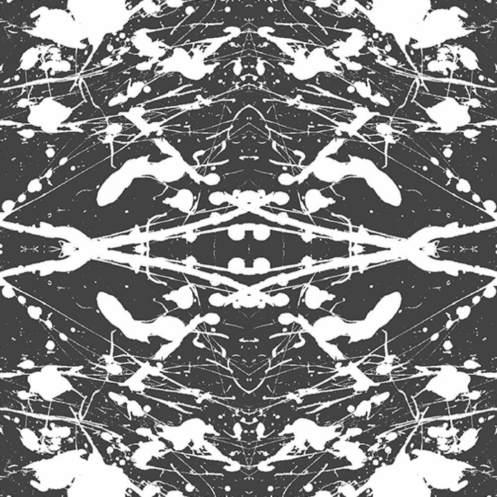 Coton qualité patchwork - Prism - Tâches noires et blanches 25 cm