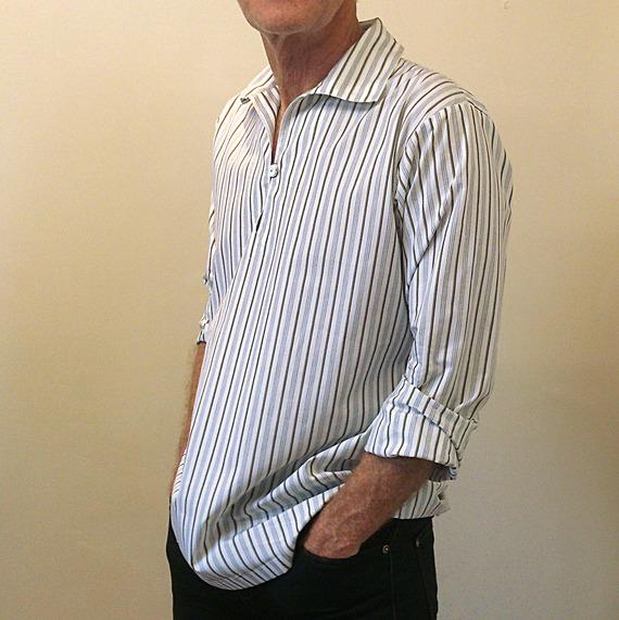 Chemise HOMME. Vareuse bretonne revisitée en coton à chemise;