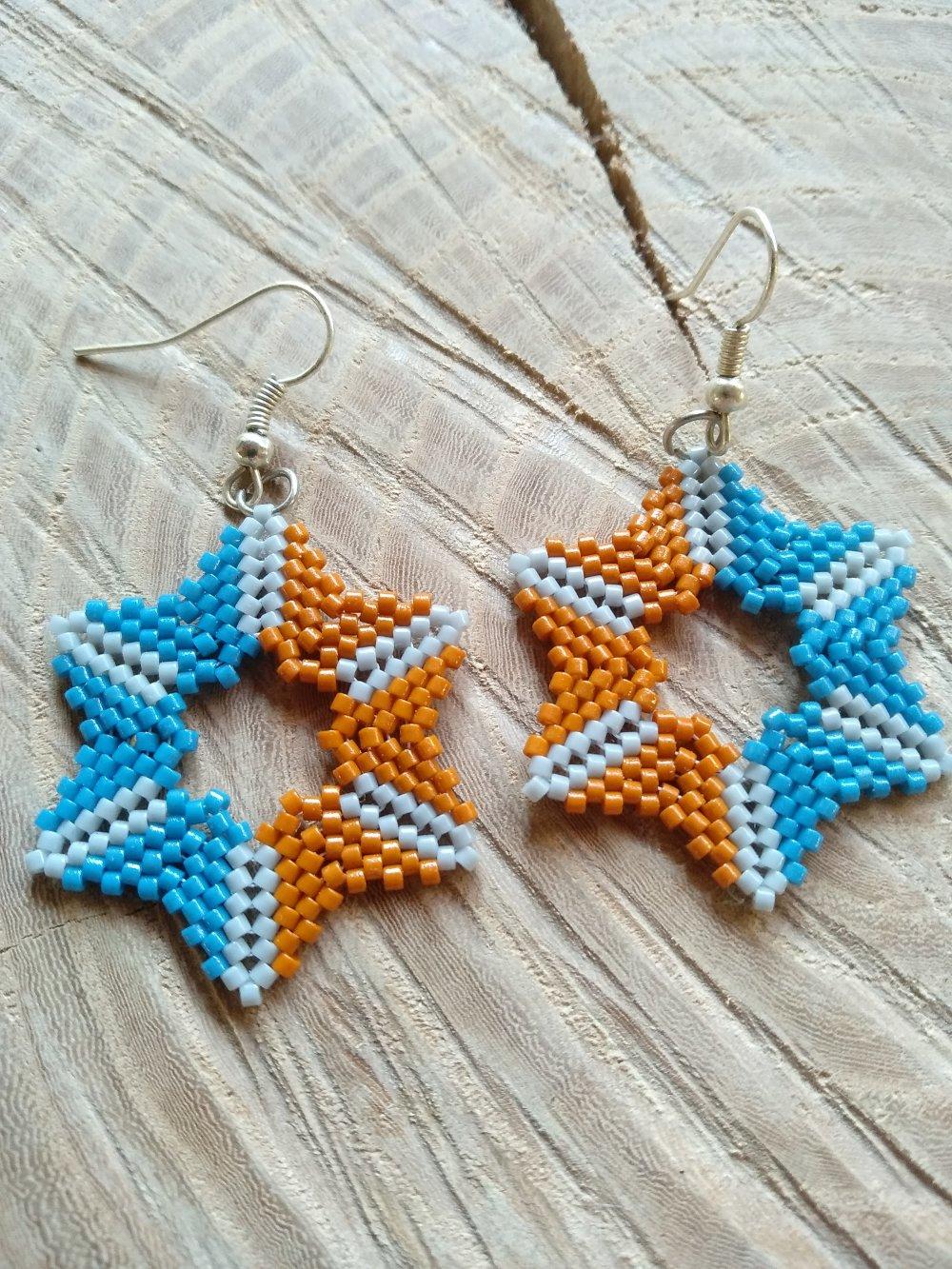 Boucles d'oreilles perles - étoiles