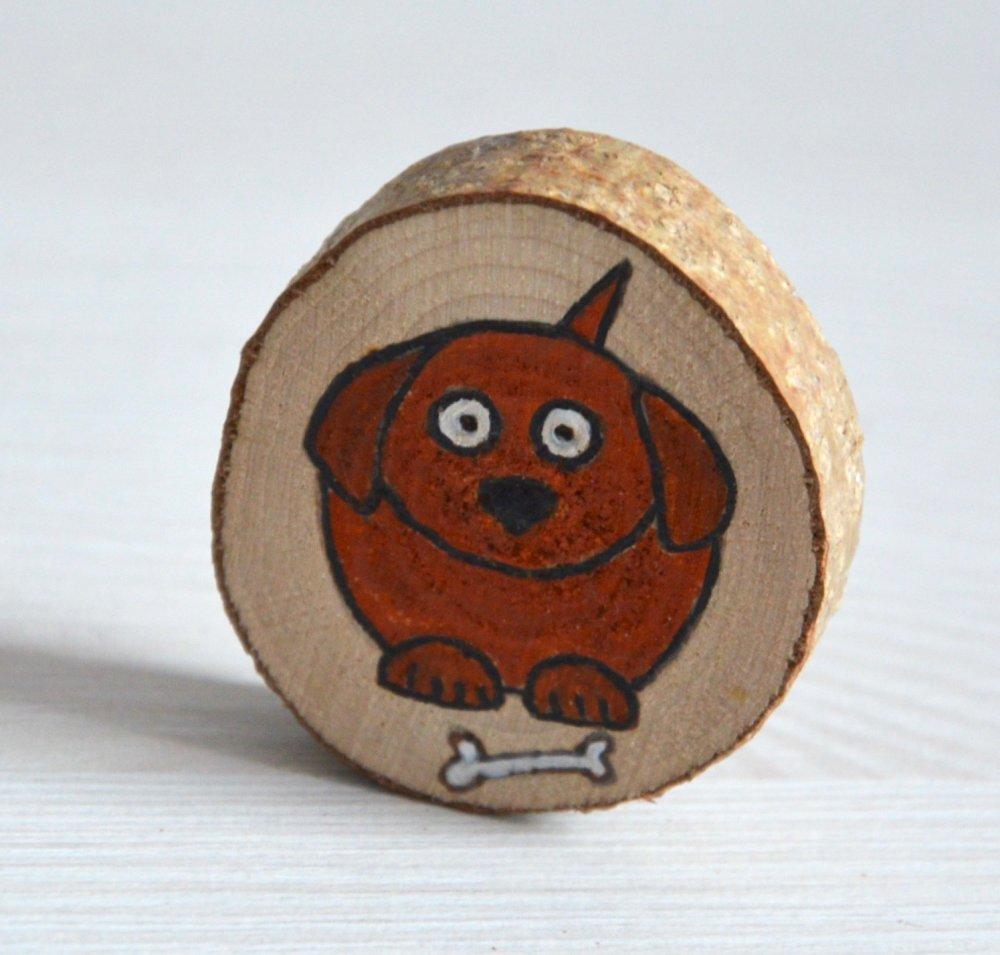Magnet rondelle de bois