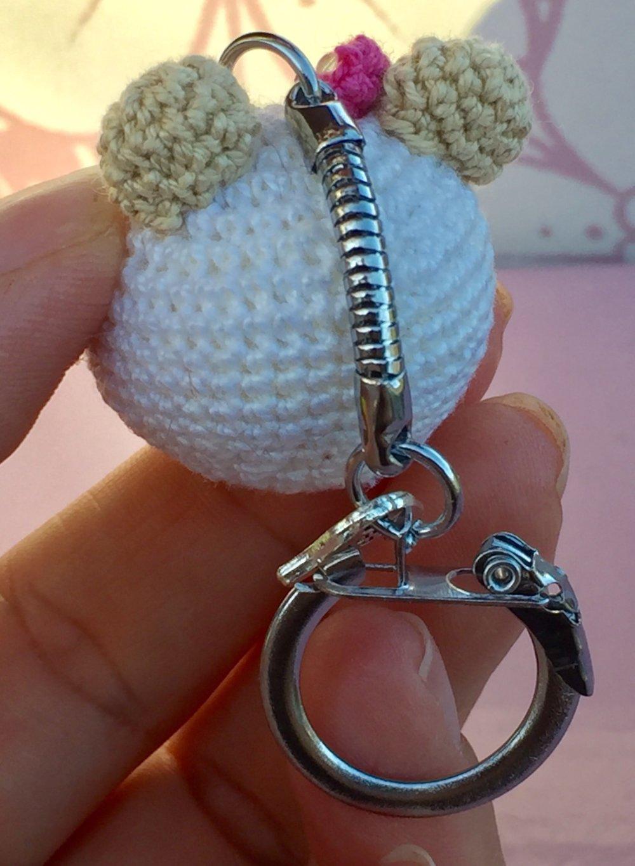 Porte clés ourson amigurumi