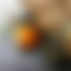 Boucles d'oreille dissociées, bohèmes, ethniques, nomades,  pompons, verre, bronze