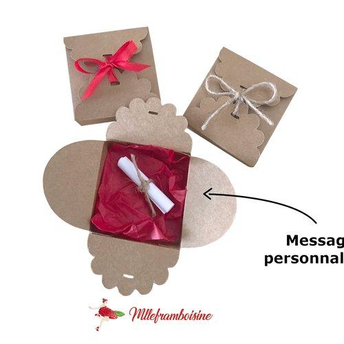 Boite message personnalisé pour annonce grossesse, demande marraine, témoin, cadeau de noel
