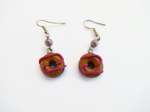 Boucles d'oreille donuts fimo