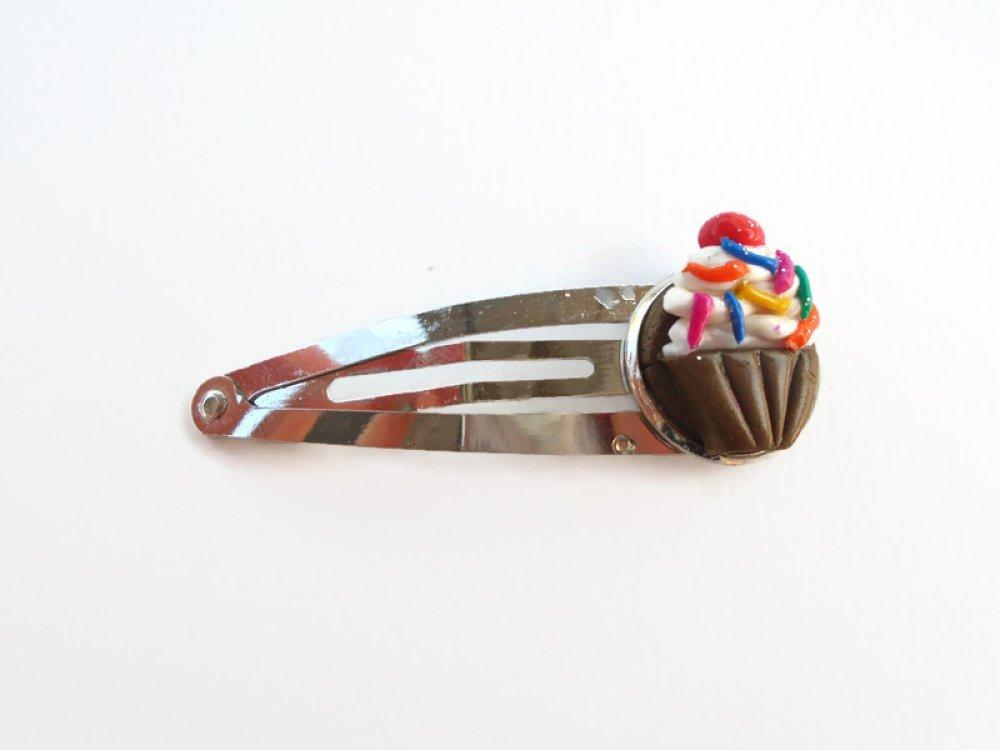 Barrette cupcake clic clac fimo