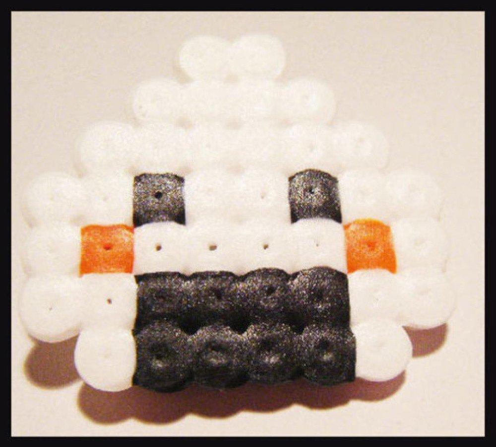 broche sushi onigri originale perle hama pixel art kawaii plastique