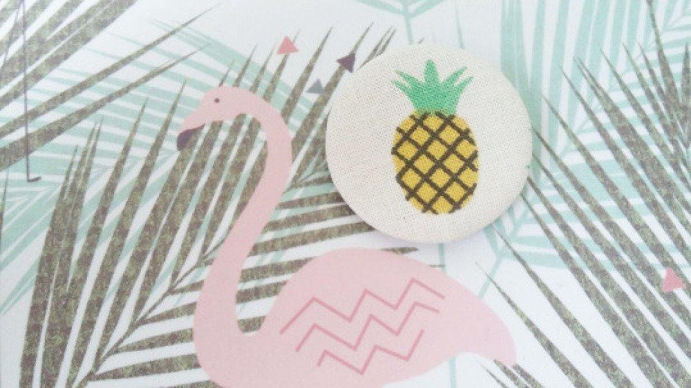 Badge en tissu - motif ananas