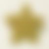 Broche étoile dorée à paillettes
