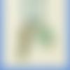 Trombone pour agenda ou planner - marque page papeterie - hippocampe et perle bleu