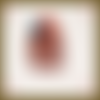 Cabochon buche de noël en pâte fimo polymère