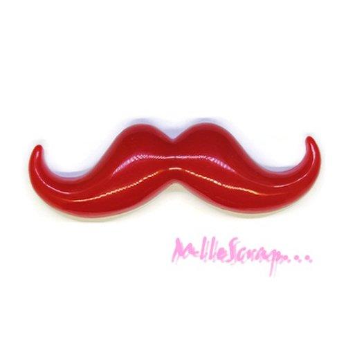 *belle moustache résine rouge embellissement scrapbooking x 1(réf.310).*