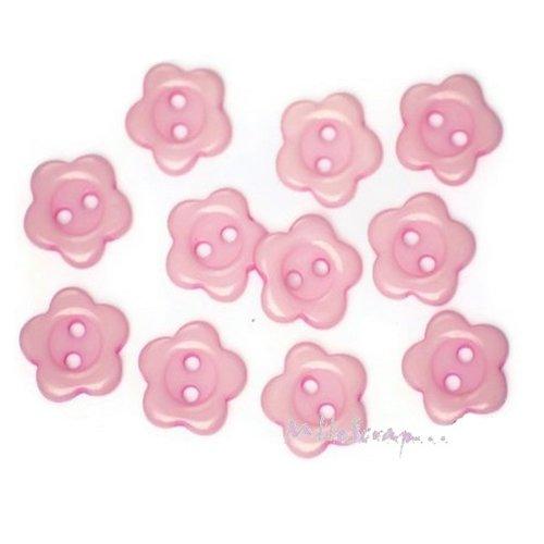 *lot de 10 boutons fleurs rose clair embellissement scrapbooking carte. *