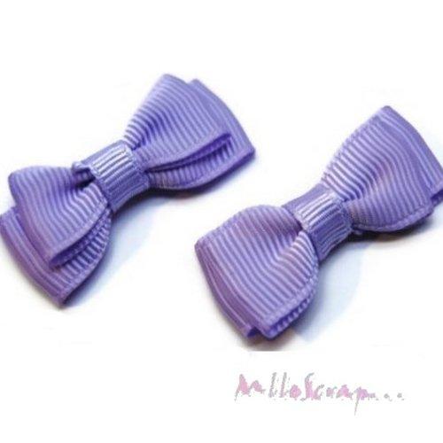 *lot de 5 noeuds violet embellissement scrapbooking carterie (réf.310).*