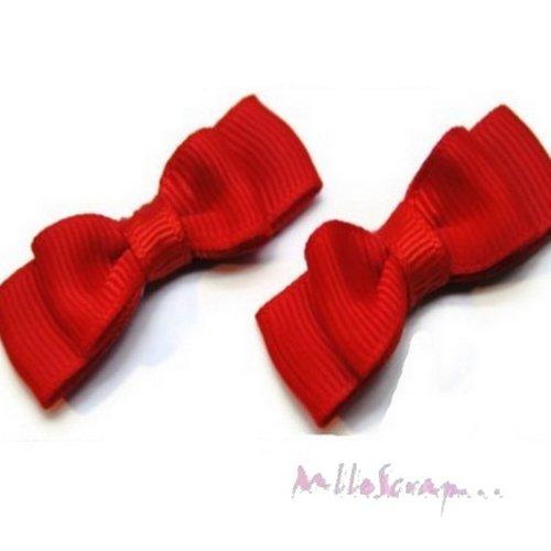 *lot de 5 noeuds rouge embellissement scrapbooking carterie(réf.310)*