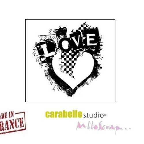 "*mini tampon ""love"" carabelle studio fabriqué en france embellissement scrapbooking (réf.210)*"