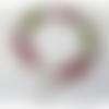 Bracelet perles de verre millefiori multicolores, fermoir mousqueton