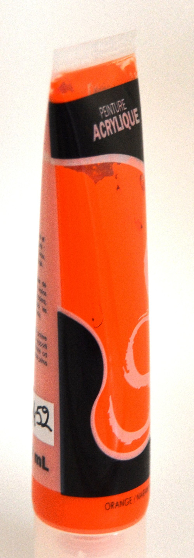 "tube de peinture acrylique "" orange  """