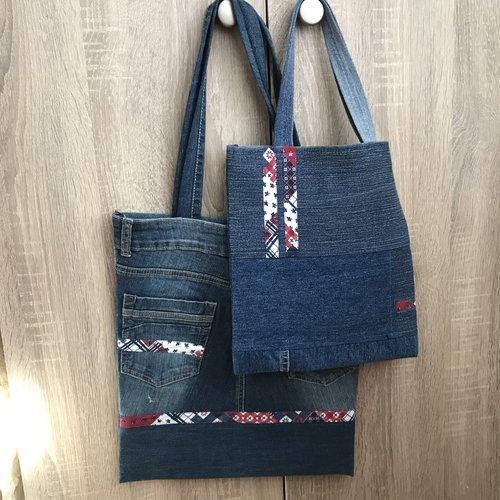 Les 2 sacs en jean recyclé
