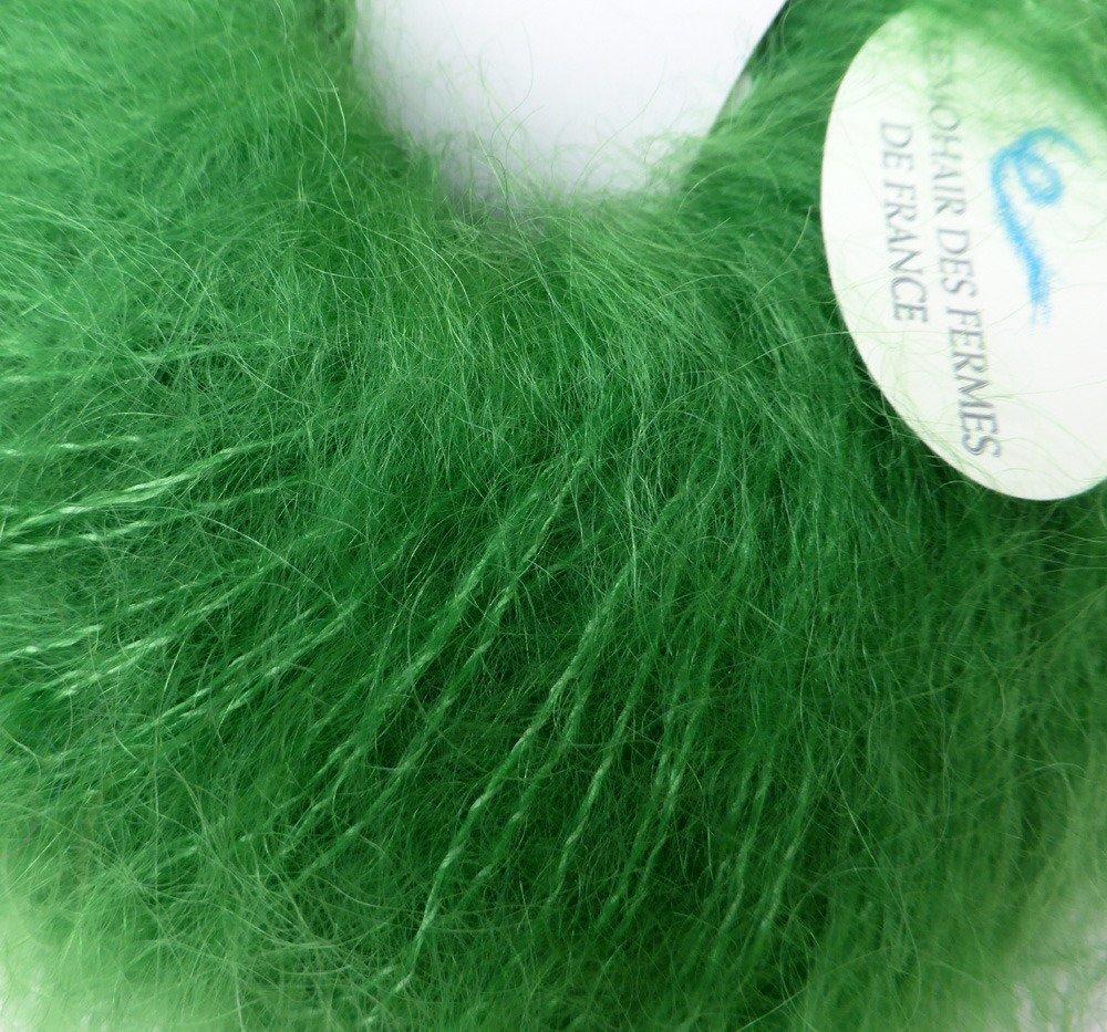 pelote mohair et soie doucine vert avocat