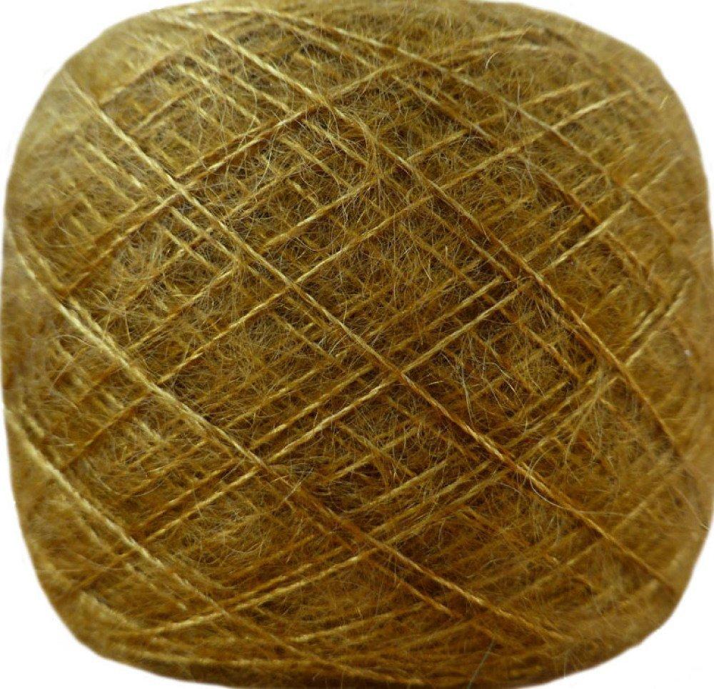 Pelote mohair et soie dentelle vieil or