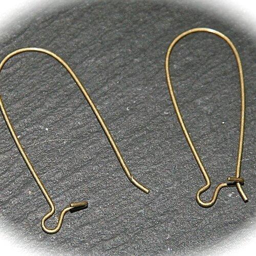 crochet boucle d'oreille laiton