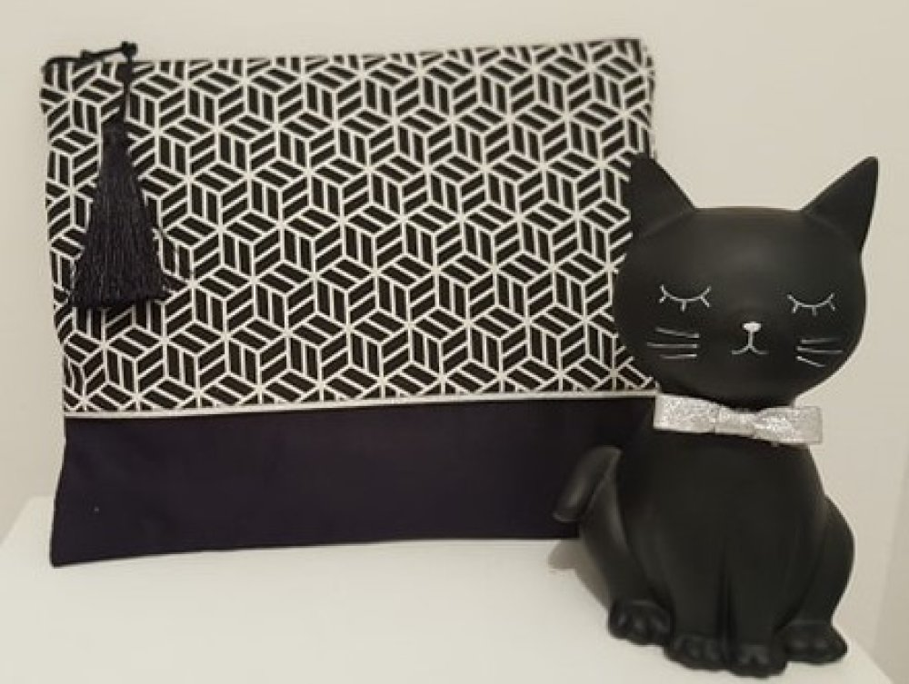 Trousse femme Black and White