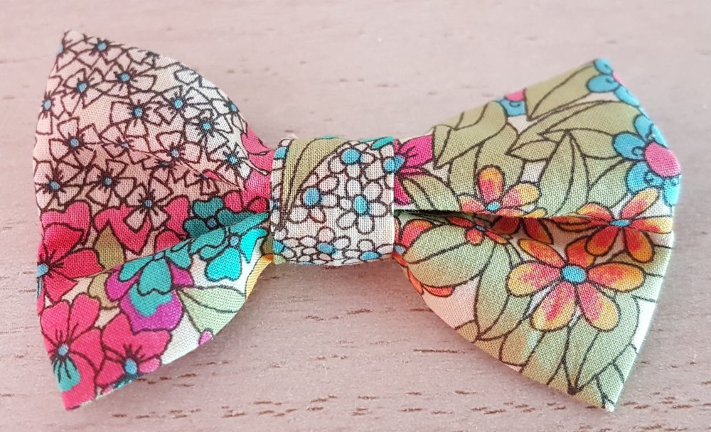 "BARRETTE NOEUD PAPILLON ""liberty"""