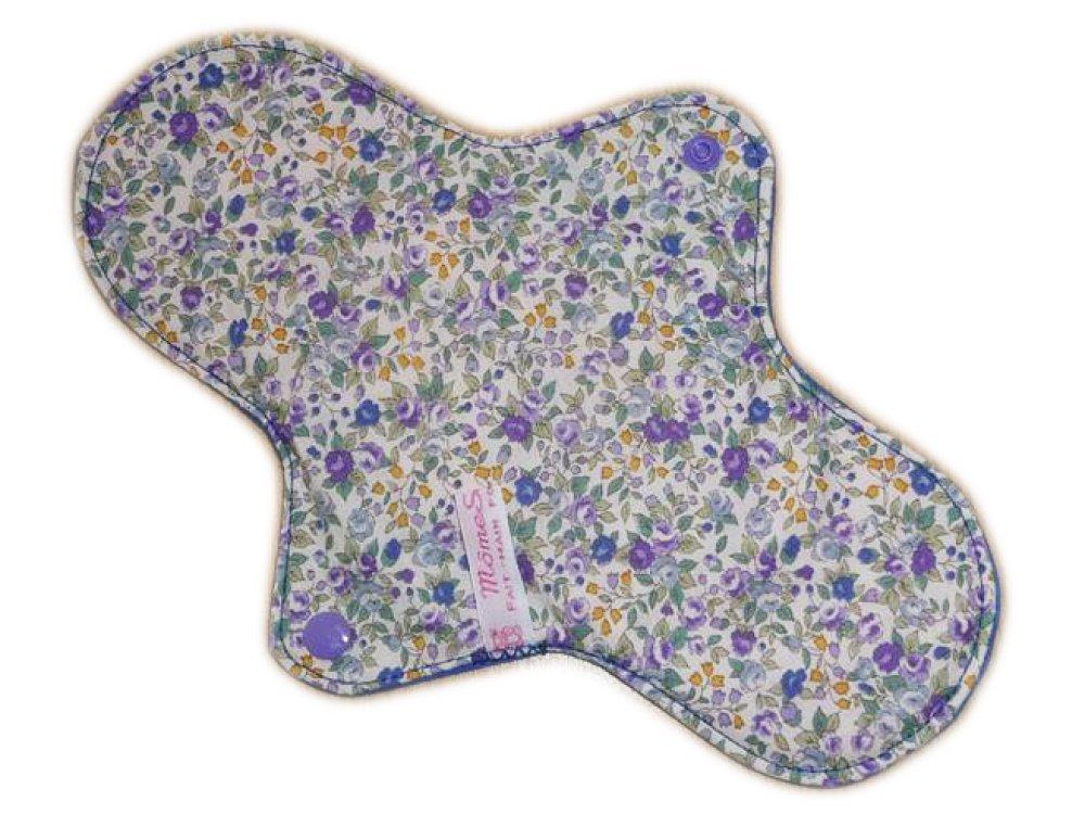 Serviette hygiénique lavable LIBERTY VIOLETTES (L) - Zéro déchet