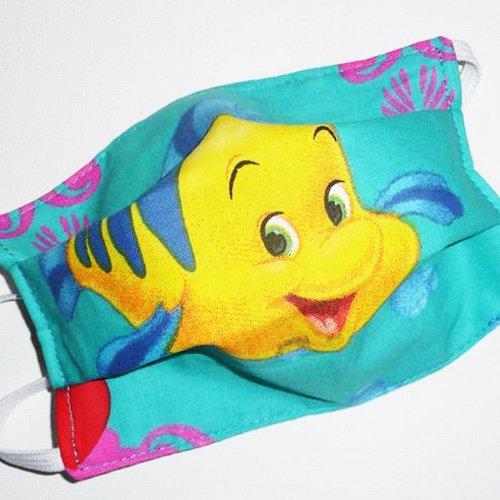 Masque de protection en tissu lavable et réutilisable réversible pour enfant - polochon - masque aux normes afnor