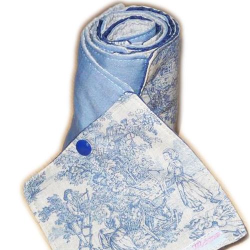 Papier toilette lavable toile de jouy (10 feuilles) - papier hygiénique lavable - lingettes - zéro déchet