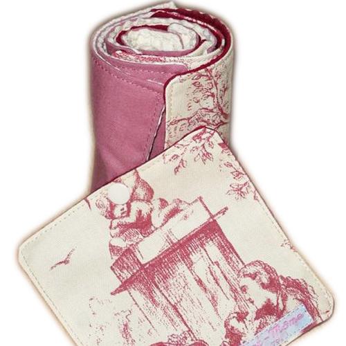 Papier toilette lavable toile de jouy (8 feuilles) - papier hygiénique lavable - lingettes - zéro déchet