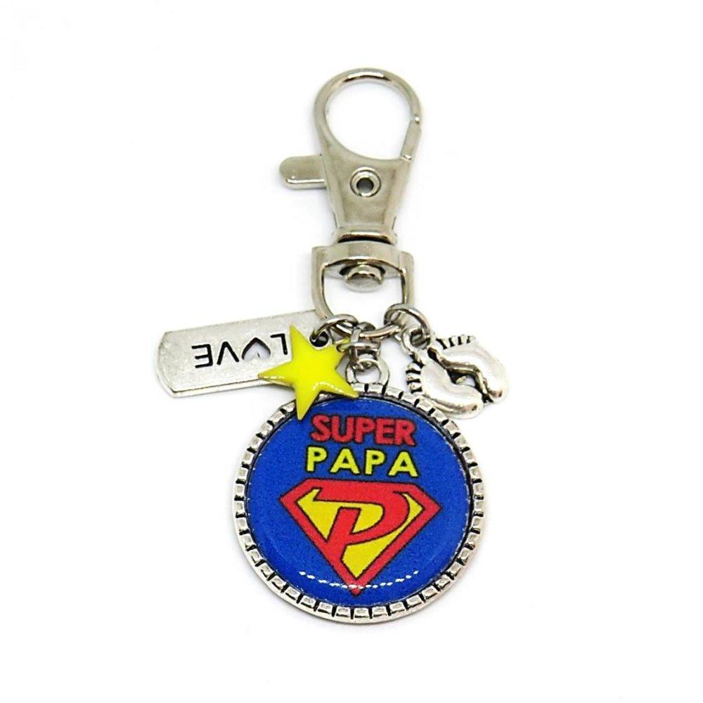 """Porte clés """"Super PAPA"""" / cadeau, papa, fête des pères"""