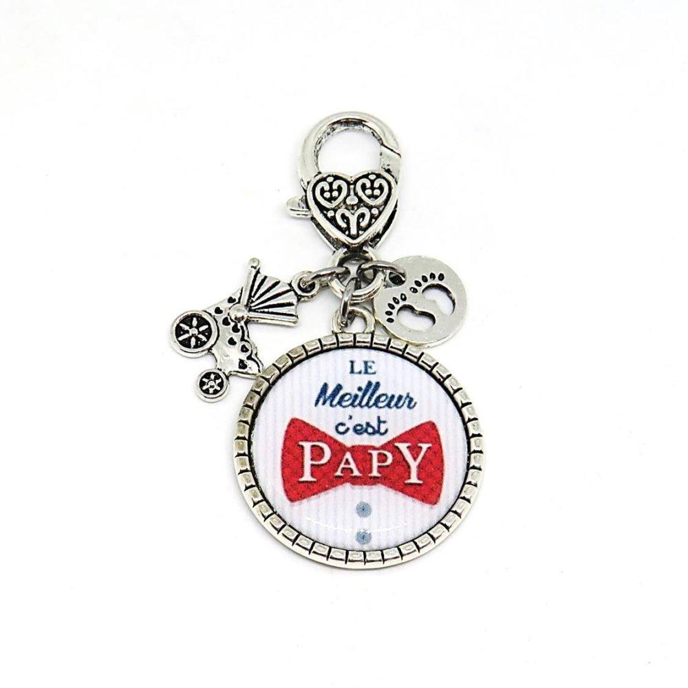 """Porte clés """"Le meilleur c'est Papy"""" / cadeau, papy, grand-père"""