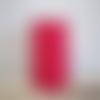 Lampe tube à poser imprimé rouge et ancres blanches pour lampe de chevet, lampe de bureau, veilleuse