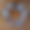 guirlande de 6 papillons en soie et coton, bleu rose blanc