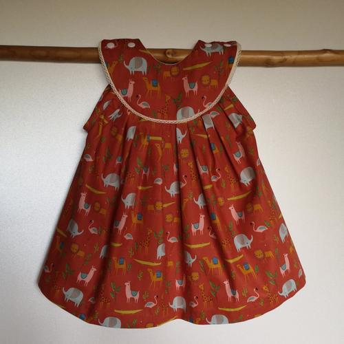 Robe bébé en coton oeko tex  9-12 mois, cadeau naissance